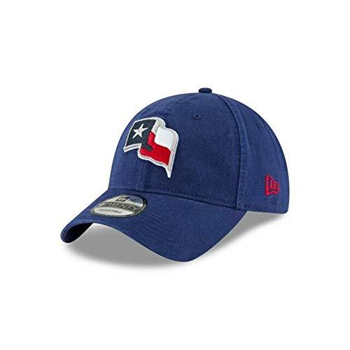 New Era Texas Rangers Texas State Flag Core 9TWENTY Adjustable MLB Cap Navy, One Size