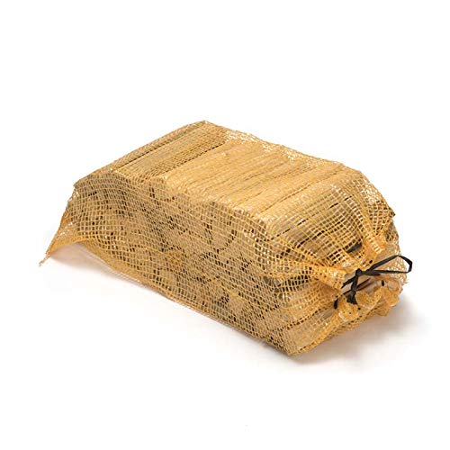 Natural Kindling Wood | Kiln Dried Tinder for Fires Campfires Log Burners Wood Stoves Pizza Ovens BBQs Chiminea | Fire Starter Sticks in Nets (1 Net)
