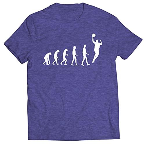 lepni.me Camisetas Hombre Evolución Baloncesto Baloncesto Callejero Me Encanta Este Juego Regalo para Fans (XXL Brezo Azul Multicolor)