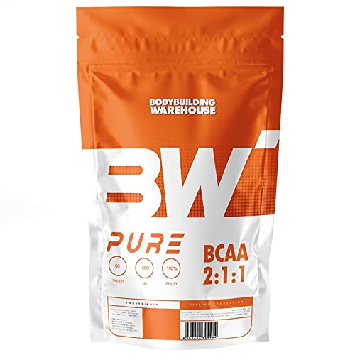 Pure BCAA Powder 2:1:1 - Instantised Branched Chain Amino Acids - Pre Workout Drink | Bodybuilding Warehouse (Strawberry Lime, 250g)