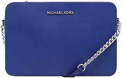 Michael Kors, Jet Set, Borsa a tracolla da donna, con logo, Blu (Cobalto), Taglia unica