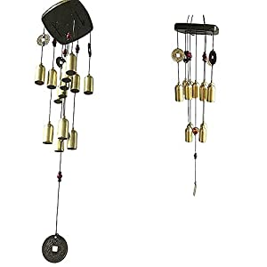 Ripe india Wind Chime 13 Bells 2- Layered with Coins for beautification and Attraction for Home & Offices with a Mesmerizing & Hypnotic Sound-(65cm)