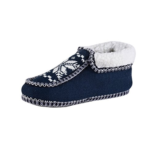 Camprella Damen Hausbooty, gemütliche Winter-Pantoffeln, Blau (38)