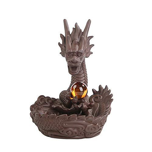 PET HOUND Moderne Figurine Statues Accessoires de décorationOrnements de brûleur d'encens de Dos de Sable Violet Xianglong Opera Pearl RoadUtilisé pour la décoration de Bureau à Domicile