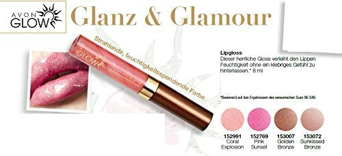 AVON GLOW Lipgloss Coral Explosion