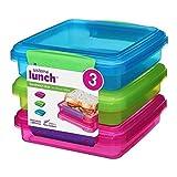 Sistema Lunch Butterbrotdose 450ml, 3er-Packung (farblich sortiert)