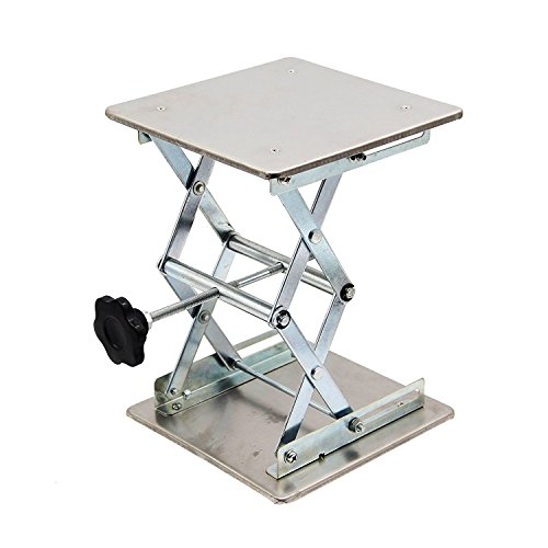HFS (R) Plate 8x8; Overall Height 10'; Lab Jack Scissor Stand Platform Lab Load Bearing 15kg/33lbs