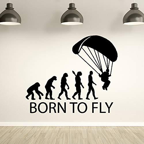 TYLPK Freies Verschiffen Human Evolution Removable Art Vinyl Wandaufkleber Für Kinderzimmer Hintergrund Wandkunst Aufkleber Kaffee M 30 cm X 35 cm