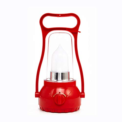 LED Camping Lantern, 300 Lumen Dimmable, 4000 mAh rechargeable Water Resistant Tent Lights for Hiking, Fishing (Color : Red-1)