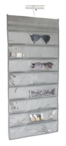 Gelco Design 709811 Rangement Multipoches DE Dressing, Plastique, Gris, 34,5 x 0,5 x 72,5 cm
