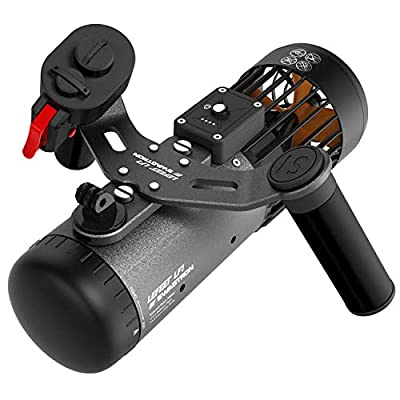 Swagtron LF1 3-Speed Underwater Scooter | 90-Minute Runtime, 14.7 LB. Thrust, 40m Depths | TSA-Compliant Removable Battery & Camera Mount | Lightweight, Modular Seascooter w/Wireless Remote