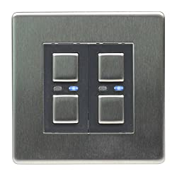 Control your lights at or away from home using your Smartphone, iPhone or iPad Create/store lighting moods/scenarios with a Light wave Remote Control Suitable for one or two-way operation (Slave Dimmer needed for 2-Way) Available in White, Stainless ...