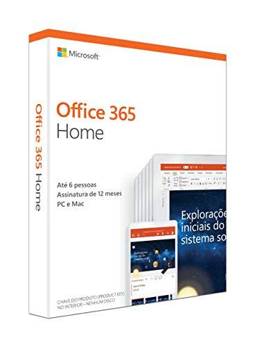 Office 365 - Home 12 Meses de Assinatura 5 Pessoas - PC