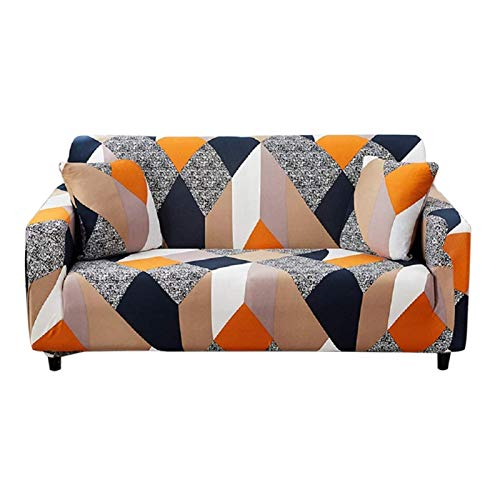 HOTNIU 1-Stück Elastischer Sofabezug 3 Sitzer Sofa überzug Couch Cover Stretch Sofahusse Sofa Überwürfe Elastisch Couchbezug Schonbezug Couch Hussen für Sofas mit 1 Kissenbezug, Pattern_mf
