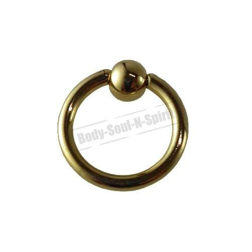 Cercle OR 6mm BSR Perçage corps Boule Nez Lèvre Cartilage Oreille 316L acier