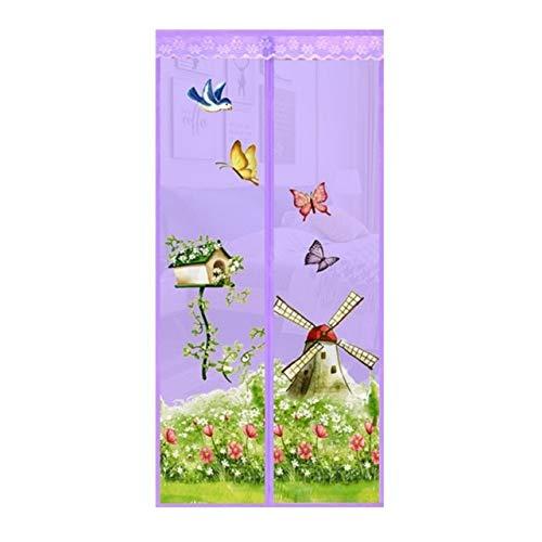 4 Farben magnetischer automatischer Adsorptions-Freisprechvorhänge, Moskitonetze, insektensichere Netze mit Magneten an Türen und Fenstern, Anti-Moskito-Vorhänge A4 B110xH210