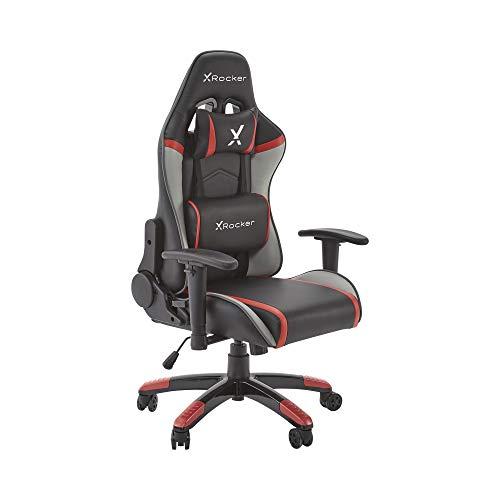 X Rocker, 0710101, Agility Junior PC Office Gaming Chair, 24.6 x 21.7 x 44.5, Black/Gray/Red
