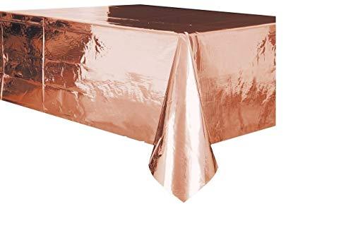 Unique party Foil Rose Gold Plastic Tablecloth