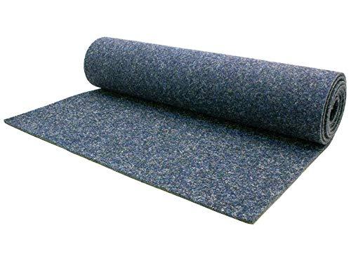 Naaldvilt tapijtvloer per meter MERLIN moeilijk ontvlambaar - vloerbedekking legware per meter, antistatisch, duurzaam, naaldvlies kantoor beurs tapijtvloer 2,00m x 15,00m blauw