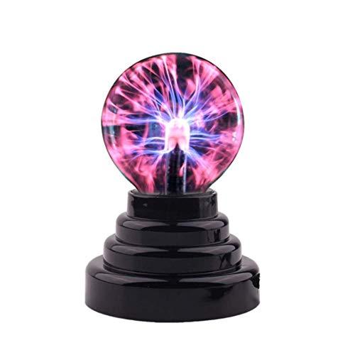 Boule De Plasma Magique,Lumière De ZHENAO Glassball, Jouet De Nouveauté De Globe De Sphère De Nébuleuse pour des Décorations/Enfants/Chambre à Coucher