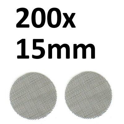 Black Leaf 200 Stahlsiebe D 15mm (2x100er Beutel) Einlegesiebe passend für Tune Pfeifen