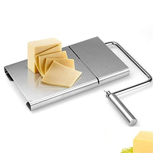 N / A Cheese Slicer Edelstahldraht-Butterschneider, rutschfeste und stabile Gummifüße, ergonomisch gestalteter komfortabler Griff spart Aufwand, Einstellbarer Winkel