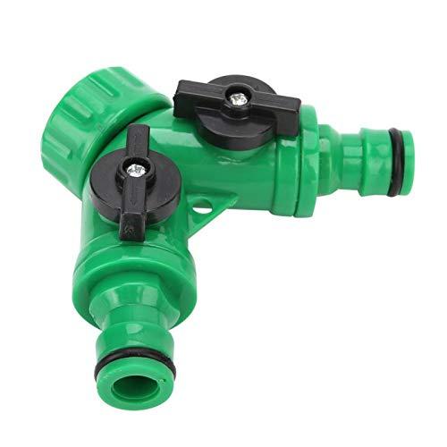 Divisor en T, divisor de agua delicado Conector de manguera Adaptador divisor Divisor de jardín útil Conector en T de válvula en Y Conveniente de usar para la mayoría de los grifos de jardín