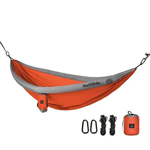 Lsmaa Doble Hamaca Columpio al Aire Libre Camping Adulto niños Rollover (Color: Naranja) (Color : Orange)