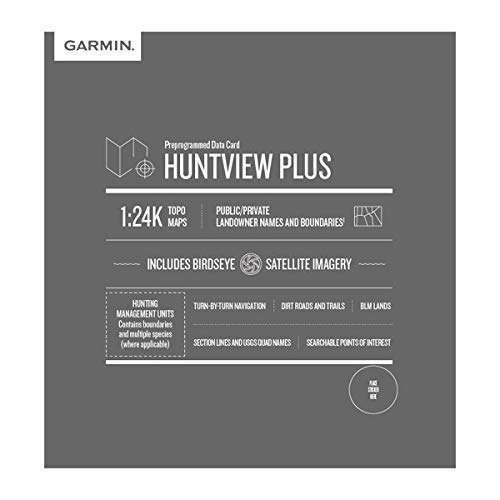 Best Deals! Garmin Huntview Plus, Preloaded microSD Cards with Hunting Management Units for Garmin H...