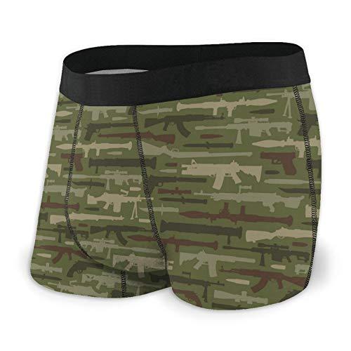 Nuwcense Vintage Military Weapons Herren Boxershorts Fitted Slips Trunks Quick Dry Unterwäsche Gr. S, Schwarz