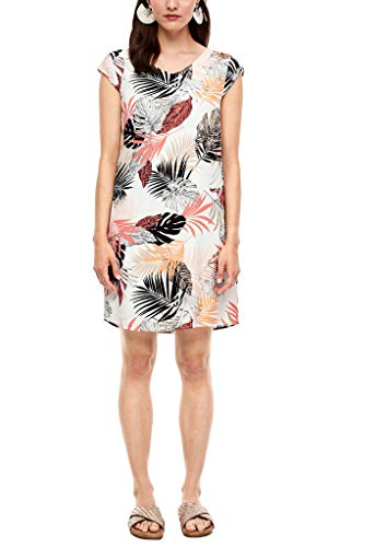 s.Oliver Damen Kleid kurz Off-White All Over 38