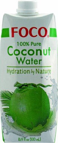 Foco in cocco sul petto acqua, Pur, 100% Naturalmente, 12 pacchetto (12 x 500 ml)