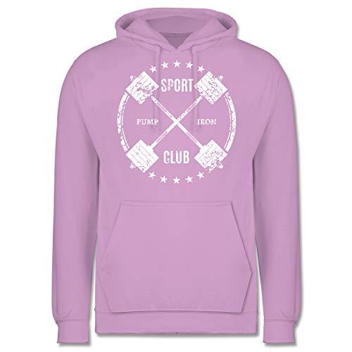 Fitness & Workout - Sport Pump Iron Club - XS - Lavendel - JH001 - Herren Hoodie
