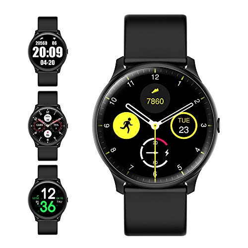 Smart Watch with Compass Heart Rate Monitor for Men Women,Evershop IP68 Waterproof Fitness Tracker with Sleep Tracker Pedometer Compatible for Android Phones&iPhone