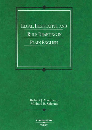Legal, Legislative and Rule Drafting in Plain English (Coursebook)