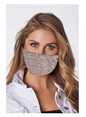 Face Mask Pink Leopard with Adjustable Metal Nose Bridge and Ear Strap, Reusable, Washable, Handmade, Unisex