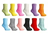 Yacht & Smith Womens Wholesale Bulk Warm And Cozy Fuzzy Socks, Colorful Winter Socks (12 Pack Assorted)