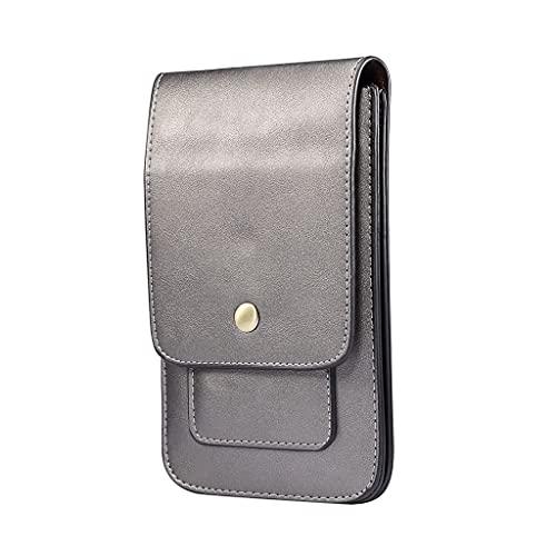 PING universal teléfono celular cinturón funda vertical colgante cintura bolsa lujo vintage cuero sintético titular de la tarjeta cartera hombres llevar...