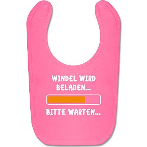 Shirtracer Sprüche Baby - Windel wird beladen - Unisize - Pink - lustige lätzchen baby - BZ12 - Baby Lätzchen Baumwolle