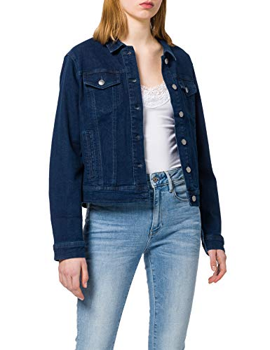 JdY Damen JDYNEWWINNER STR Jacket Box DNM NOOS Jeansjacke, Medium Blue Denim, XL