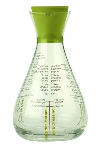 Typhoon Glass Salad Seasoning Shaker Flask, Green, 12 Ounces