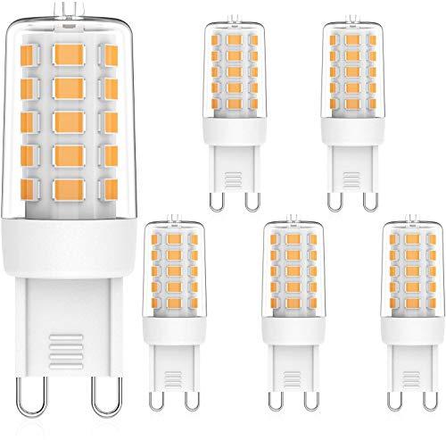 MLlichten Lampadine LED G9 Dimmerabile 2700K Bianco Caldo, 5W Equivalente Alogeno 40W 50W, Nessun Sfarfallio G9 LED Lampada, AC 220-240V G9 LED Lampadina, Confezione da 5