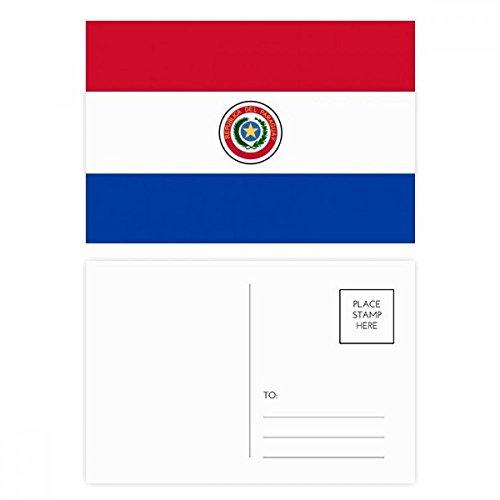 DIYthinker Paraguay NationalFlaggege Südamerika Land Postkartenset Geburtstag dankt Karte Mailing Side 20pcs 5.7 Zoll x 3.8 Zoll Mehrfarbig