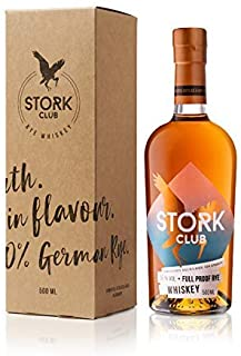 STORK CLUB Full Proof Rye Whiskey 1 x 0,5 l – Deutscher Roggen-Whiskey mit 55% vol.