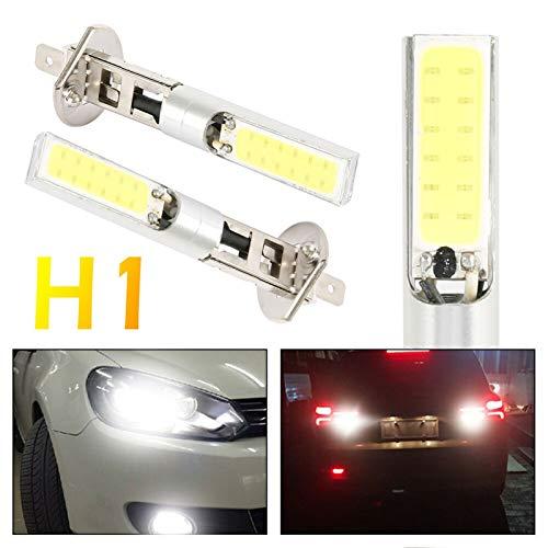 2 unids H1 / H3 LED Bombilla para el Faro para la Bombilla de conducción del automóvil Super Brillante Blanco COB LED Care DE Cabo 20W 12VDC Blanco Auto Motocicleta Lámparas (Socket Type : H3)