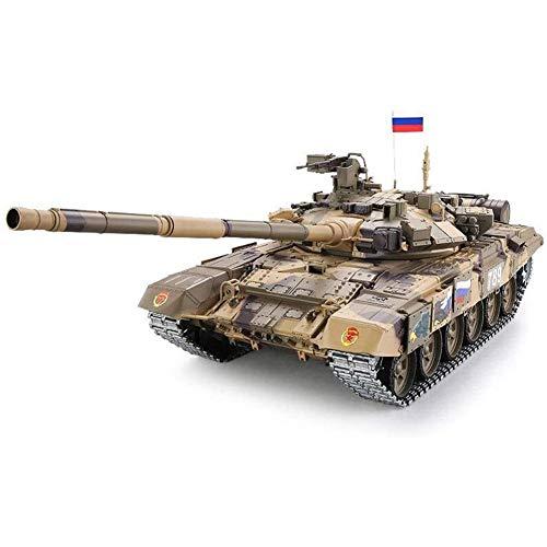 GRTVF 1:16 Scale Remote Control Tank Car Can Lanzamiento Fumar 2.4GHz Modelo RC Tanque Sound Sound/Acción y Humo, Disparando BB, Regalos para Adultos y niños (Color : Basic)