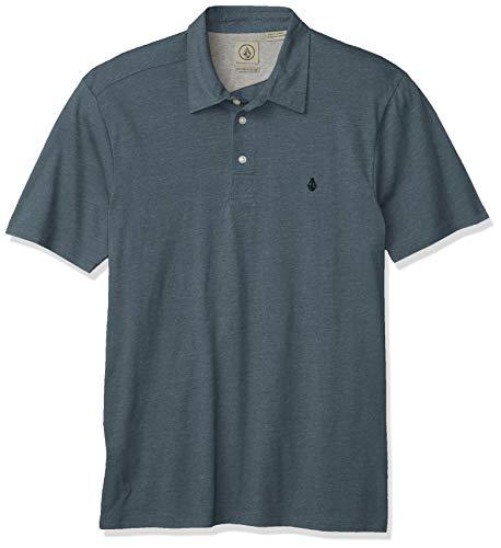 Volcom Banger Camisa de Polo, Fuerza Aérea Azul, XL para Hombre