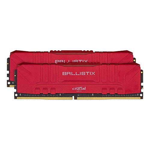 Crucial Ballistix BL2K8G30C15U4R 3000 MHz, DDR4, DRAM, Desktop Gaming Memory Kit, 16GB (8GB x2), CL15, Red