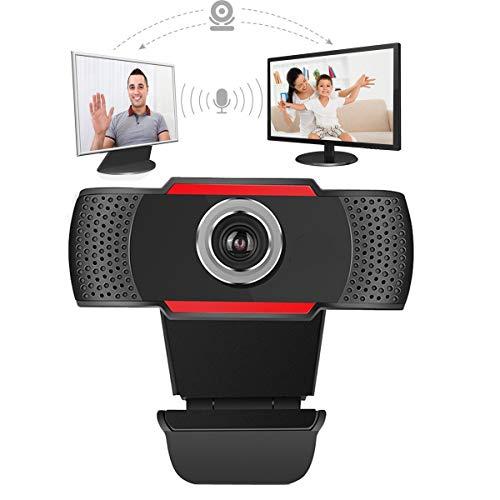 Cámara web HD de 1080p con micrófono externo USB cámara de computadora para PC portátil de escritorio Mac videoconferencias, Skype Xbox One YouTube OBS negro negro