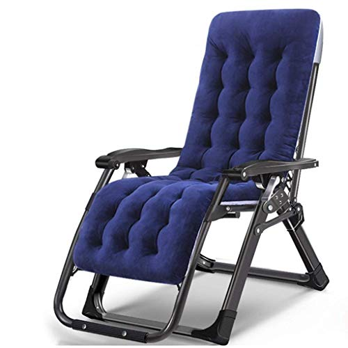 Tuinmeubels/ligstoelen met bekerhouders en kussens voor zware mensen zware mensen gewichtloosheid buiten strand camping draagbare stoel, 200 kg lichte campingstoel (kleur: blauw)